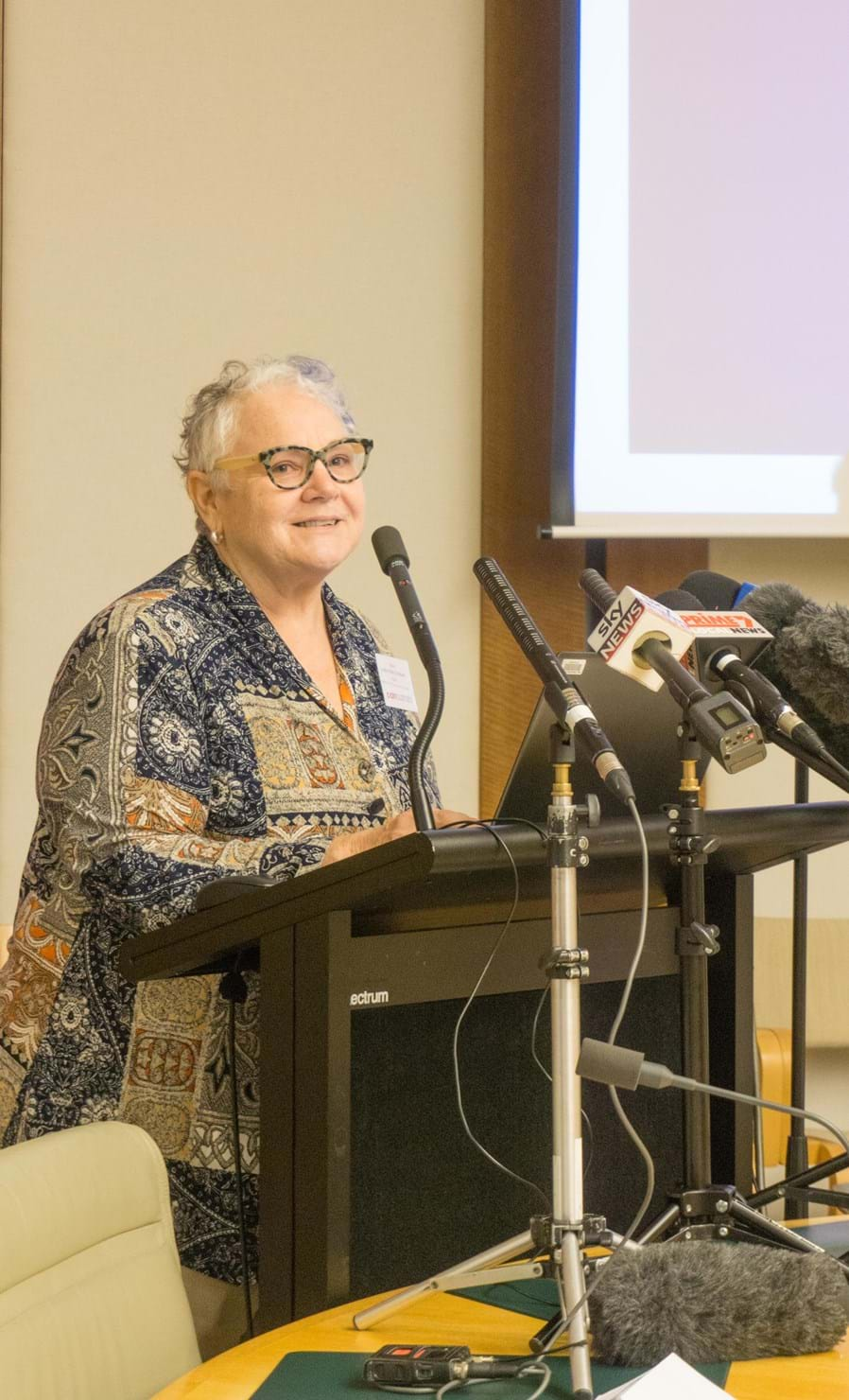Sister Mary-Lynne Cochrane at Cost of Pain Launch