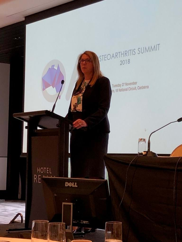 Shadow Federal Health Minister Catherine King speaking at the Osteoarthritis Summit.