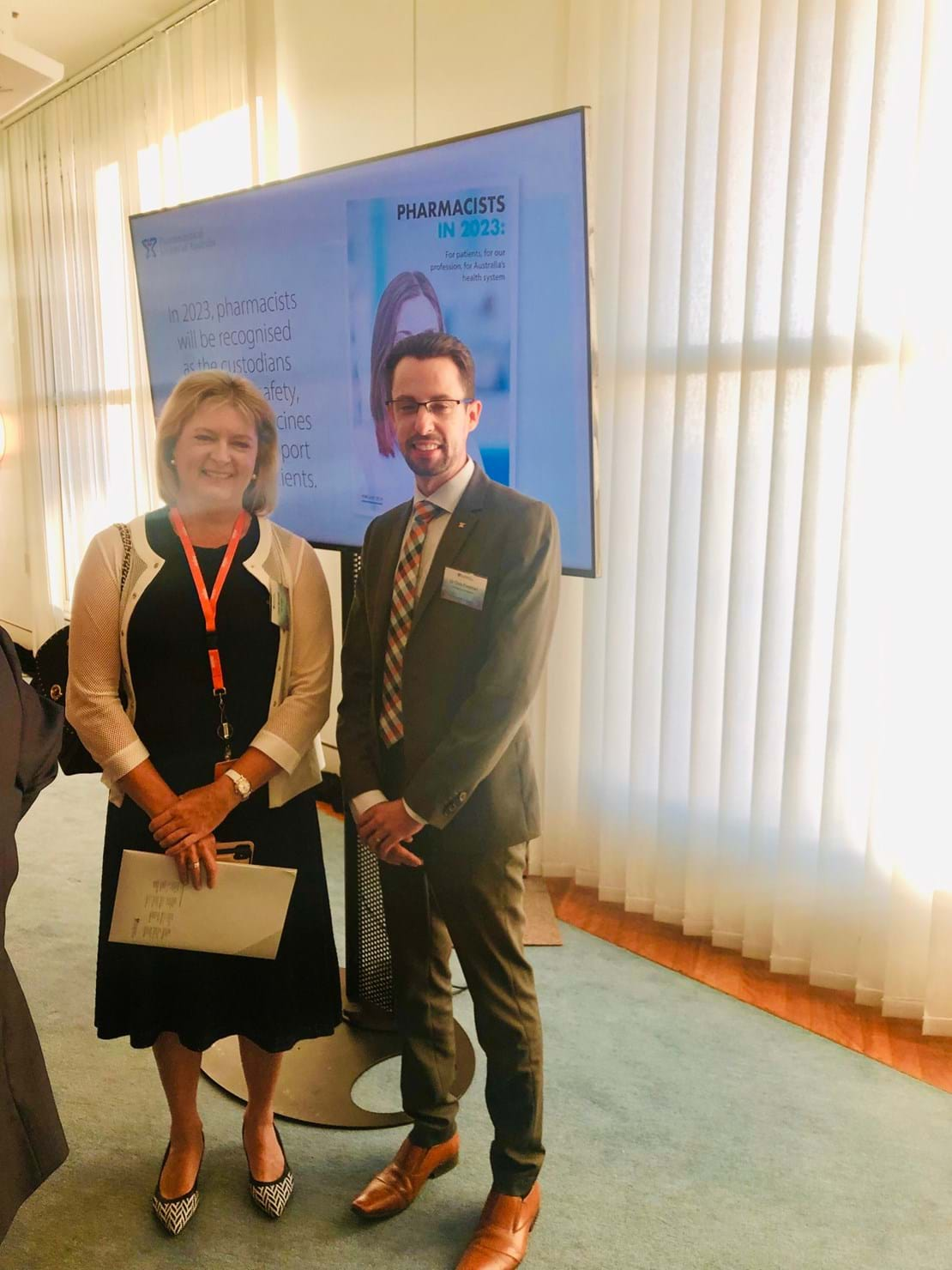 Painaustralia CEO, Carol Bennett and Chris Freeman and Pharmacists in the Future launch