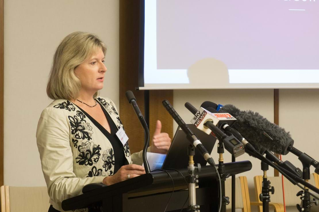 Painaustralia CEO Carol Bennett at the Cost of Pain Launch