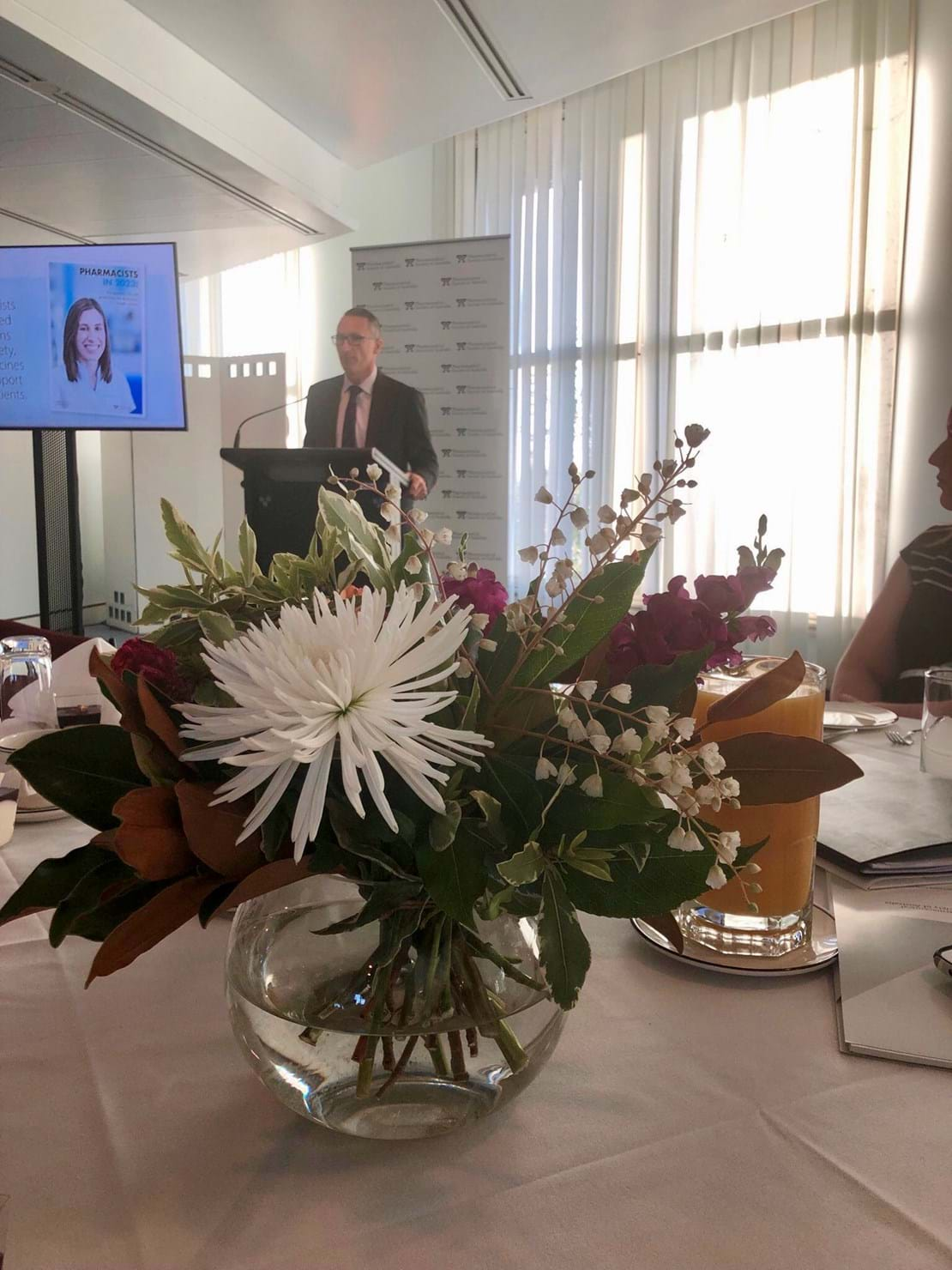 Greens Leader Richard Di Natale speaking at the Pharmacists of the Future event